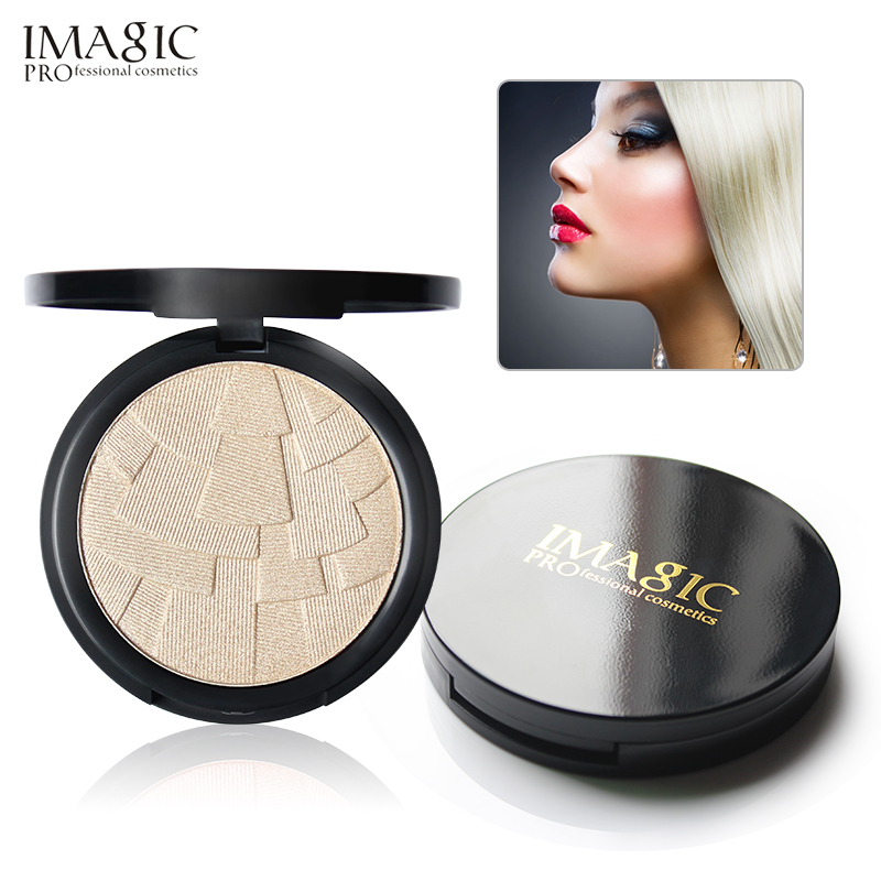 IMAGIC  Professional 4 Colors Illuminator Brightening Cosmetics Face Pressed Highlighter Powder Easy To Wear Face Shimmer