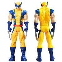 A Figura de Ação VINGADORES Marvel Wolverine Brinquedo X-men Spiderman PVC Collectible Titan Série Herói caixa original presente de Aniversário