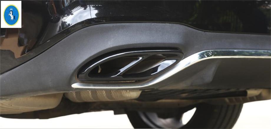 Yimaautotrims Auto Accessoire Arrière Queue Gorge Tuyau D'échappement Silencieux Cover Version Pour Mercedes Benz Classe C W205 Berline 2015- 2018
