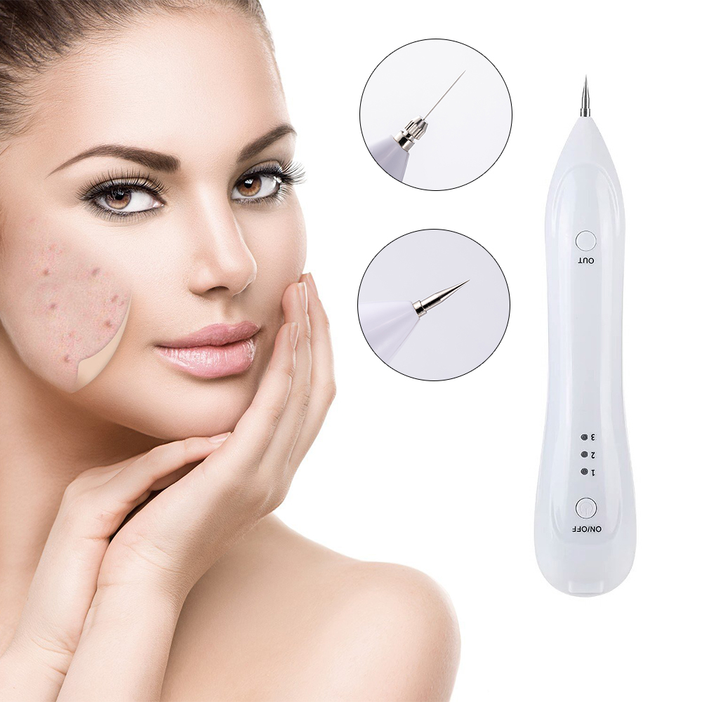 Electric Laser Mole Removal Machine Freckle Skin Wart Tag Tatoo Remover Plasma Pen Dark  ...