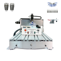 3d cnc router 6040 3axis ball screw with free cutter and Er11 collet