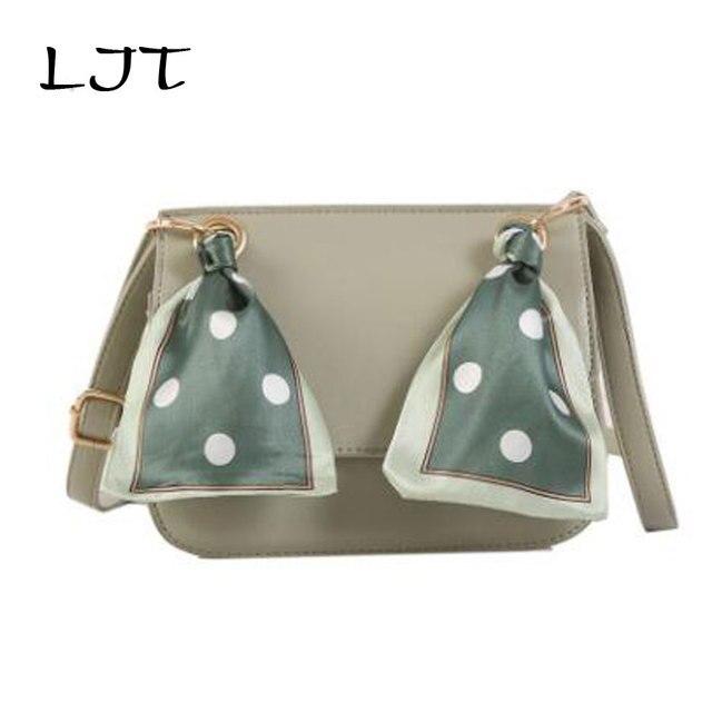 LJT 2019 Summer New Girl Silk Scarf Small Cute Shoulder Bag Handbags Purse Woemn Fashion Brand Designer Crossbody Evening Bag