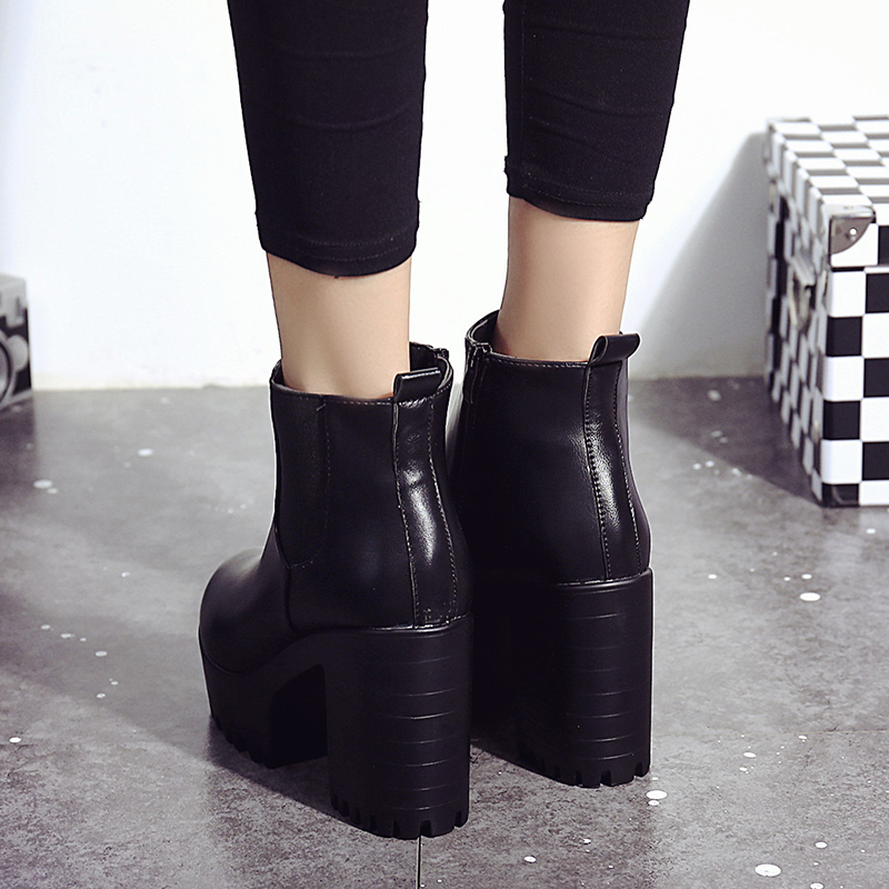 Tacón 35 Mujeres Moda De Plataforma 2017 Las vino Alto Señoras Nuevas Mujer 39 Zapatos Negro S416 Tinto Sexy Bombas Tamaño Botas 1YfYZwq