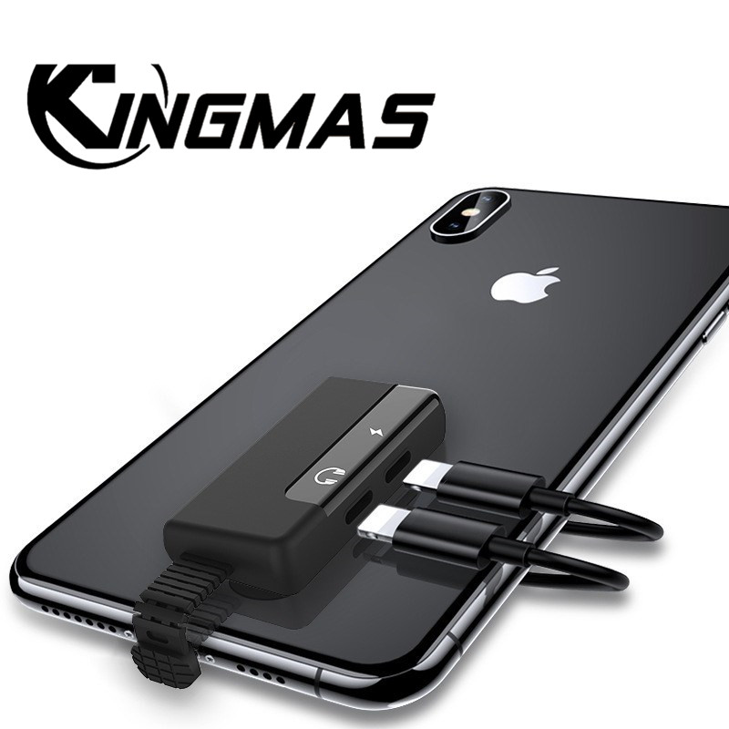 Audio Adapter for apple Charging Call for iphone 6 6S X 8 7 Plus XS MAX XR Original Headphone AUX Splitter Connector Adapter