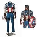 Капитан Америка Первый Мститель Стив Роджерс Костюма Взрослых мужская Капитан Америка Косплей Костюм На Заказ D0123