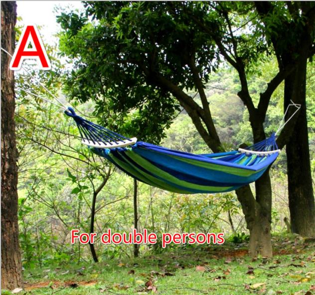 High quality outdoor thickness canvas swing tying super loading outdoor camping hammock special for double persons 2 people portable parachute hammock outdoor survival camping hammocks garden leisure travel double hanging swing 2 6m 1 4m 3m 2m