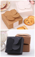 50pcs/lot-8*8*3.5cm Black White Kraft Paper Gift Boxes Leaf Clover Craft for Wedding Soap Candy Packaging Custom Box
