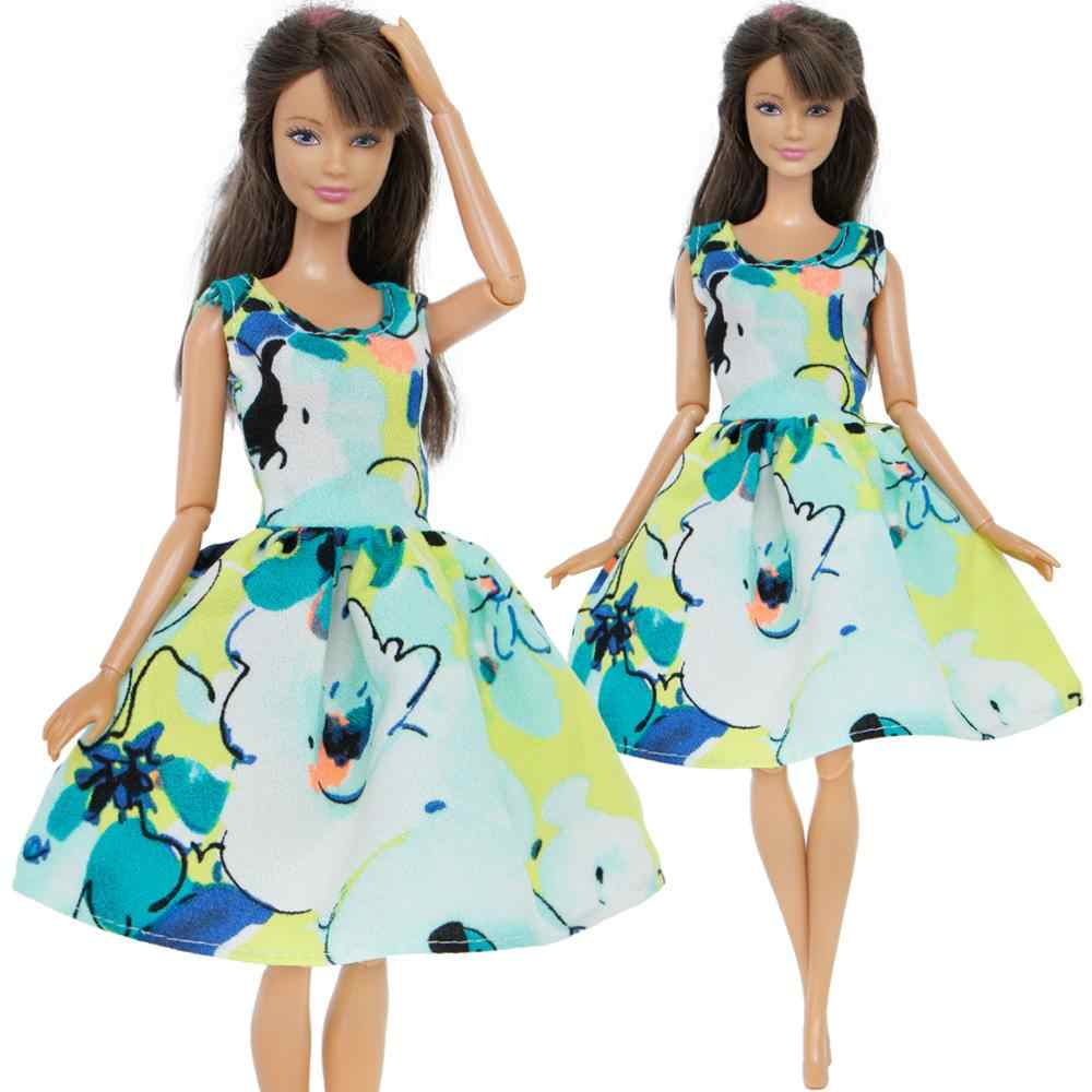 Detail Feedback Questions about Handmade Fashion Colorful Dress Casual  Party Wear Outfit Sleeveless Skirt Gown Clothes For Barbie Doll Accessories  Kids Toy ... 015048d80311