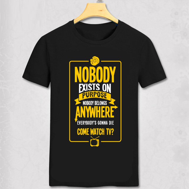 """Rick and Morty – """"Nobody exists  on purpose"""" man's T-shirt"""
