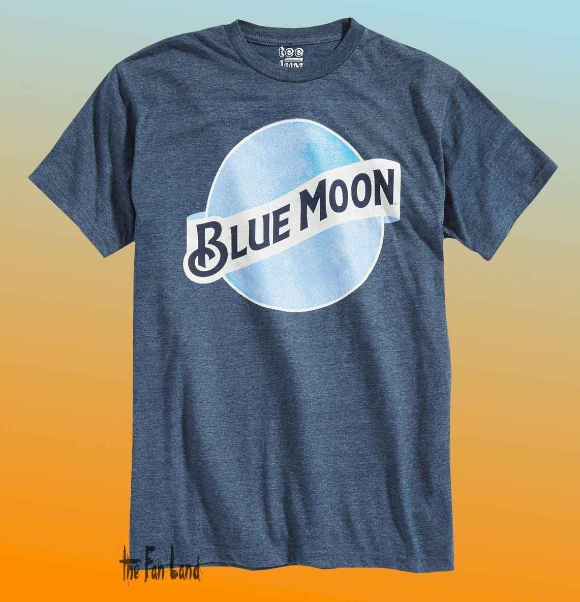 Novo Blue Moon Beer Brewing Clássico dos homens do Logotipo T-Shirt