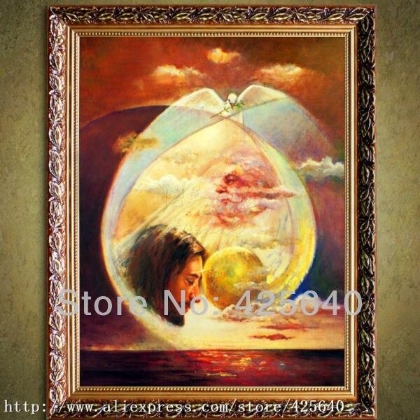 5e92d5c64538 A sagrada família e o espírito santo na pintura da lona pinturas com  decoração de alta qualidade pintura a óleo de impressão 1