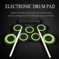 New Electronic Drum USB 7 Pads Kit Drumsticks Pedal Portable Digital Roll Up Drum Pad Foldable Silicone Musical Instrument