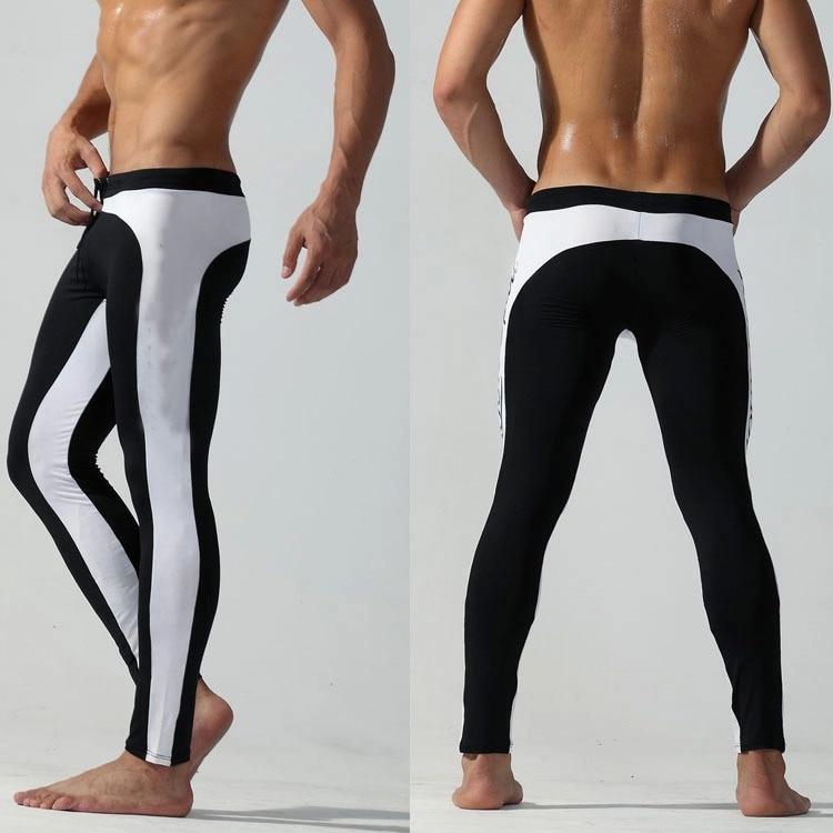 Men's Tight Trunks Nine-point Swimming Trunks Quick-drying Swimsuit Sun Protection Long Leg Swimming Trunks Men's Swimming Trunk