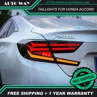 Автомобильный Стайлинг задний фонарь чехол для Honda Accord 2018 светодиодный задние фонари чехол для Accord задний фонарь задний багажник крышка лам