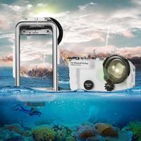 40 м/130 футов Подводная камера водонепроницаемый Дайвинг чехол для iPhone 6 7 8 Plus X Водонепроницаемый чехол для iPhone X 8 7 плавательные чехлы