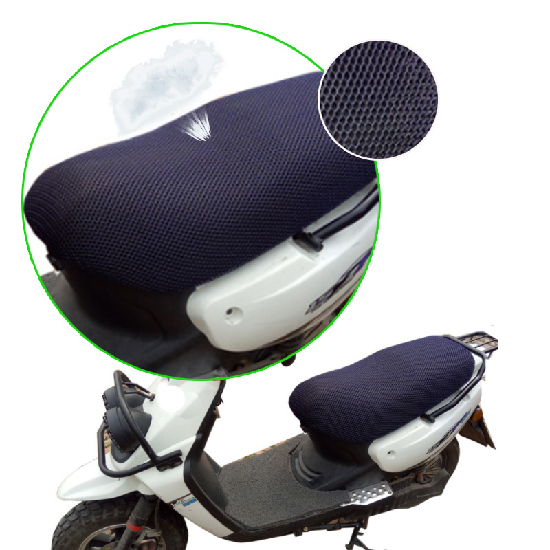 Motorcycle Seat Cover Sun Proof Non-slip For  Scooter E-bike Sun Pad Heat Insulation Cushion Cover Black(China)