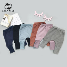 Baby plus velvet solid color pants autumn and winter baby boys and girls leggings 1-3 thickening infant children harem pants цена 2017