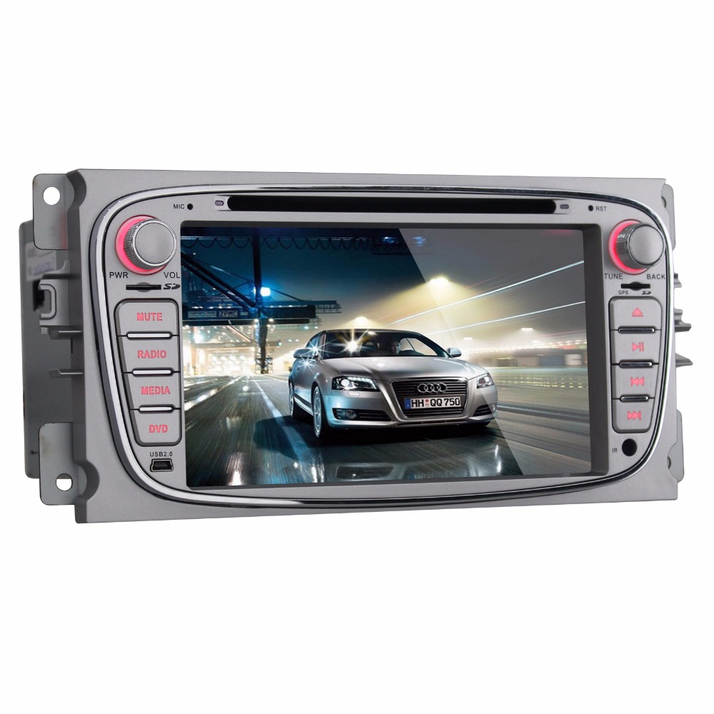 Beiinle  GPS Navigator DVD Radio  QUAD CORE 16G 2 Din Car 1024*600 Android 4.4.4  for Ford Focus Mondeo S-max C-max Galaxy