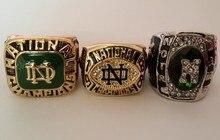 Precio de la promoción para la Réplica Más Nuevo Diseño 3 unids por juego NCAA 1977 1988 2014 Notre dame Fighting Irish Campeonato Nacional anillo