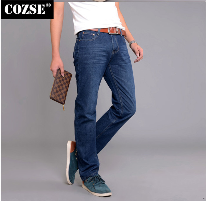 2015 New Fashion Summer European Men Slim Elastic Force Stretch Cotton Denim Jeans Pants Trousers Hot