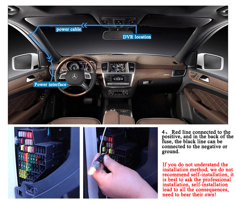 FHD 1080P car camera 4.3-inch Mirror Rearview screen dual lens Car DVR Night Vision rearview mirror auto dvrs Stop Recording 32