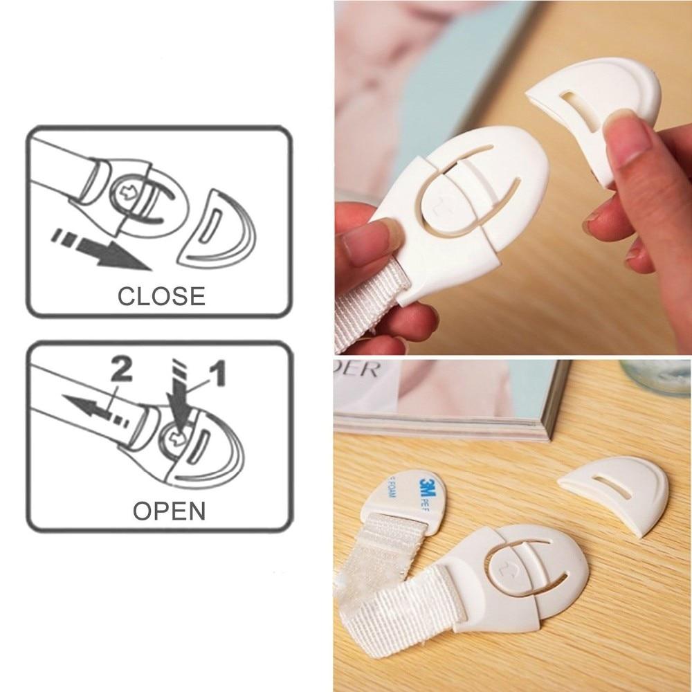 10kpl / erä laatikkokohtainen ovenkaappi kaappi wc-turvalukot - Vauvan turvallisuus - Valokuva 5