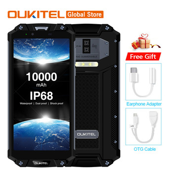 Original OUKITEL WP2 IP68 Waterproof Smartphone Android 7.1 Helio P25 Octa Core 6GB RAM 64GB ROM 10000mAh 9V2A Mobile Phone face mask