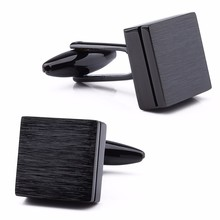HAWSON High Quality Square Cufflinks 3 Colors Option Brushed Cufflinks for French Cuff Free Gift Box
