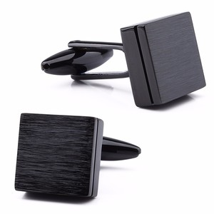 Image 1 - HAWSON Retailed Formal Brushed Cufflinks Mens Suit Shirt IP Black CuffLinks High Quality with Gift Box