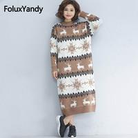 Cartoon Long Sweaters Women Plus Size Knitting Pullovers Casual Long Sleeve Turtleneck Sweaters Khaki Red MMHH669oil