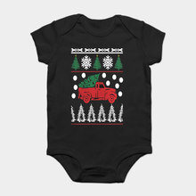 Baby Onesie Baby Bodysuits kid t shirt Funny novelty Tree car christmas ugly sweater x mas gift cool(China)
