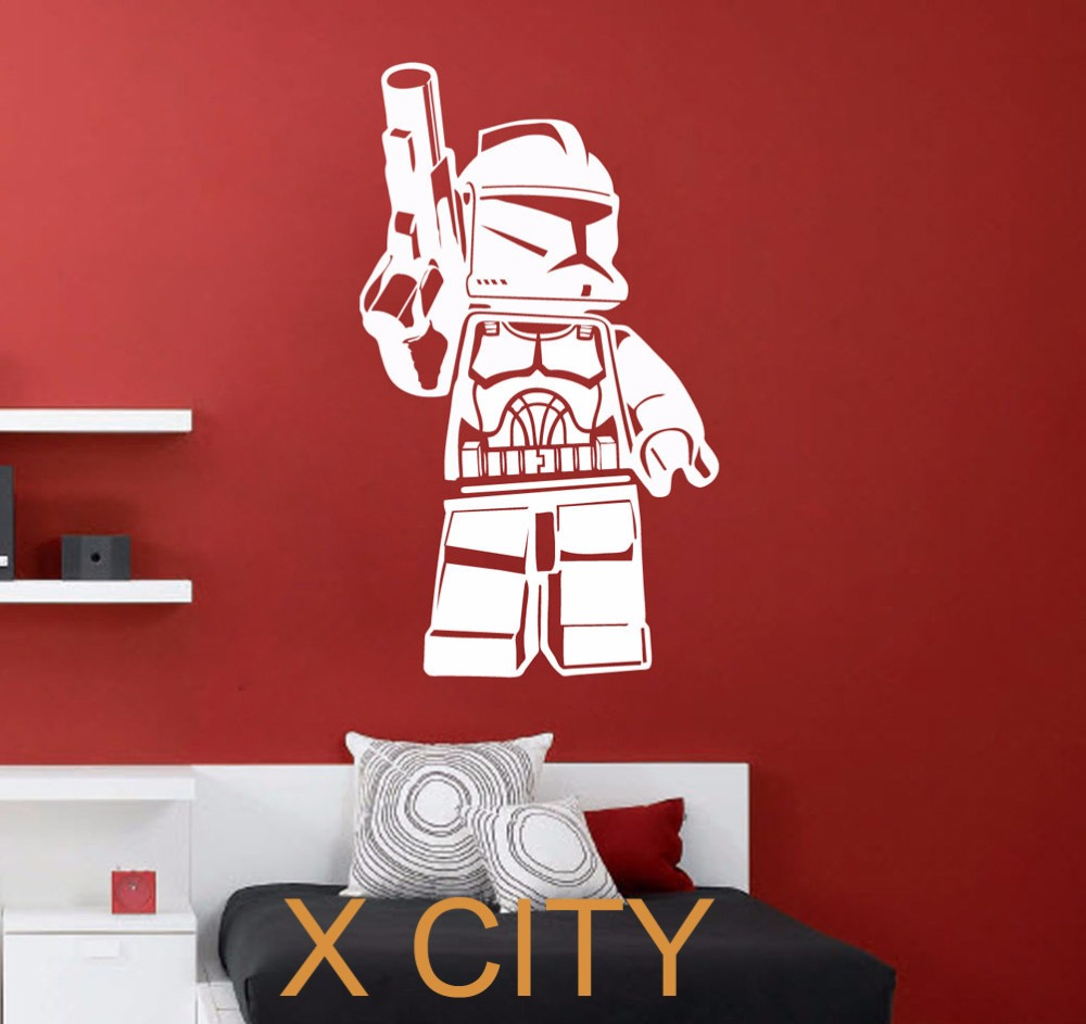 Lego clone trooper star wars film art sticker autocollant p pini re amovible vinyle transfert - Pochoir star wars ...
