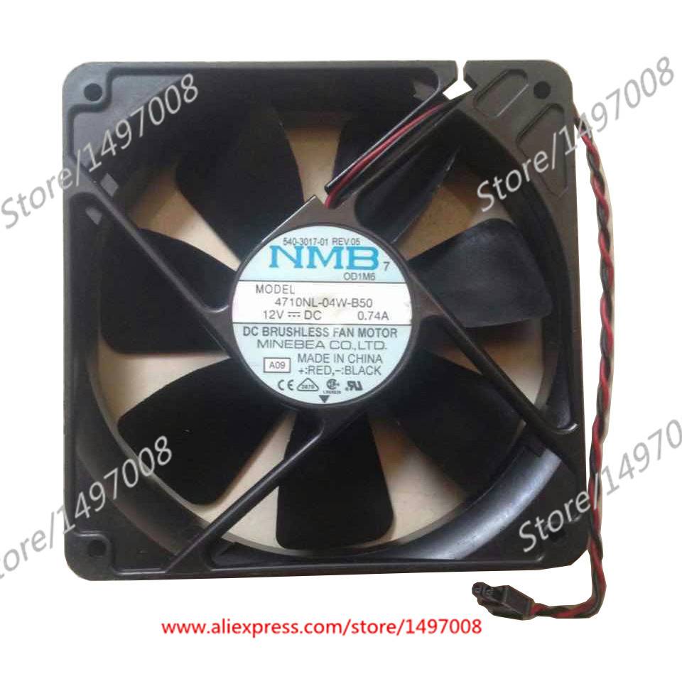 NMB-MAT 4710NL-04W-B50, A09 DC 12V 0.74A    110mm 120x120x25mm Server Square  fan nmb mat 3110kl 04w b49 b02 b01 dc 12v 0 26a 3 wire server square fan