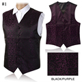 2016 New Design Mens Waistcoats Slim Fit Men Vest Suit Paisley Coletes Chaleco Hombre For Party Wedding Suit Billiards