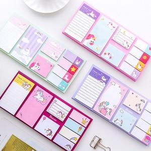 Sumikko Gurashi Memo Pad Cartoon Cute Unicorn Sticky Notes Multi Folding Writing Pads Label Mark Kawaii Stationery School Supply
