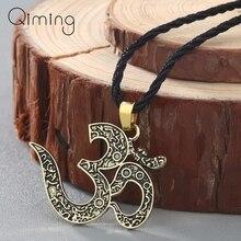 Ожерелье «Ом» Ом Ювелирная подвеска-Ом Йога ювелирное женское серебряное национальное ожерелье медитационная Йога мужская бижутерия Femme