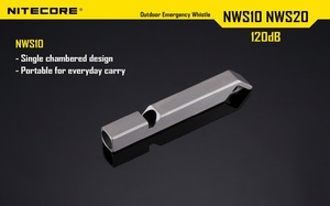 Image 2 - Nitecore NWS10ไทเทเนียมฉุกเฉินนกหวีดสร้อยคอจี้กลางแจ้ง120dBพร้อมพวงกุญแจ + จัดส่งฟรี