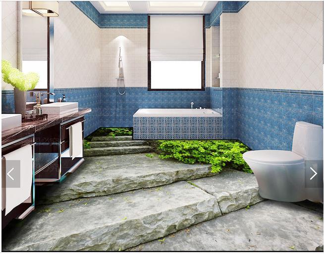 цена на 3d wallpaper customized 3d flooring painting wallpaper murals room 3d bathroom floor painting wall 3d living room photo wallpaer