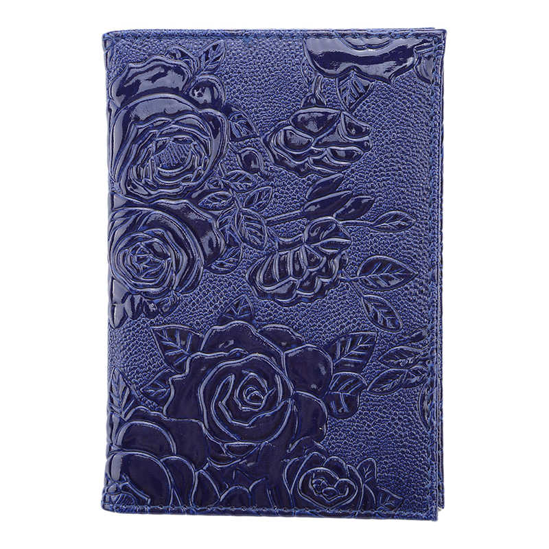 Travel Portable Passport Cover Soft Pu Leather Women Men Travel Credit Card Holder Travel ID Document Passport Holder Bag
