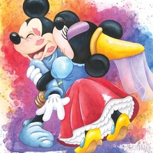 5D Diamond Painting Kits Cartoon Mickey Mouse Embroidery Minnie kisses Crafts Mosaic Picture
