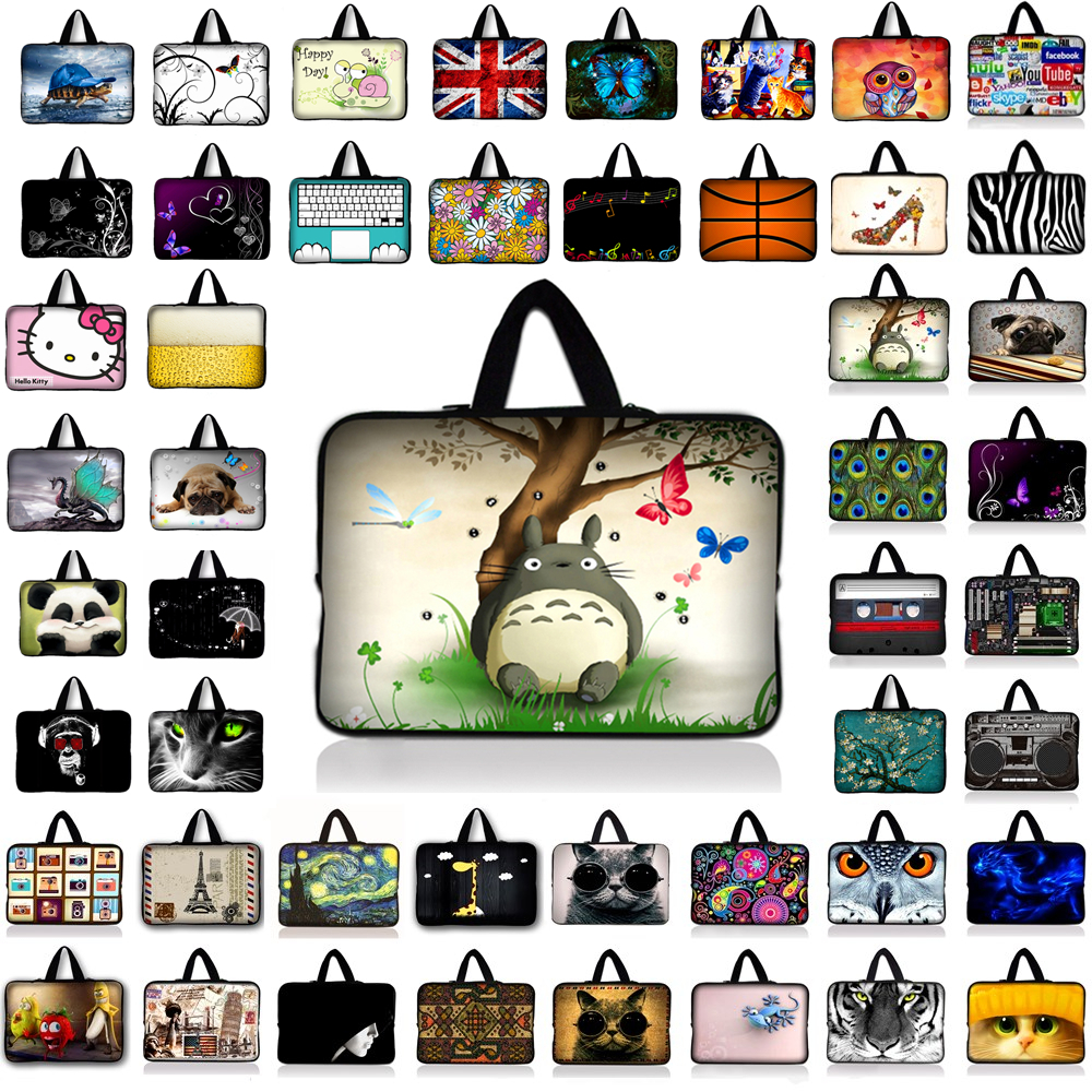 Totoro Neoprene Laptop Bag Tablet Sleeve Pouch For Notebook Computer Bag 7 10 12 13 15 13.3 15.4 17.3 For Macbook IPad Dell Asus