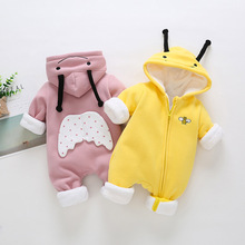 BibiCola baby girl hooded outerwear spring autumn warm