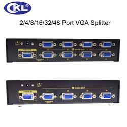 CKL di Alta Qualità Multi-funzione 2/4/8/16 Port VGA Splitter per PC Monitor Projector Supporto Display 450 Mhz 2048*1536 In Metallo