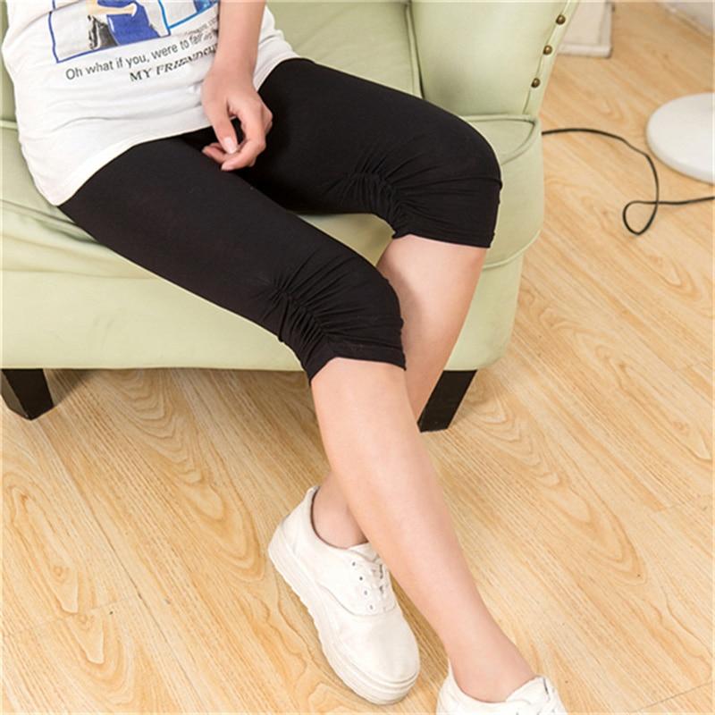 Fashion Summer Legging High Quality Black / White Legging Feet Pants Women Capris Modal Cotton Leggins Deporte Mujer 7AA171