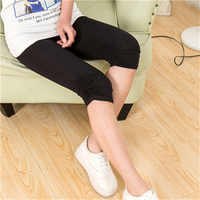 Mallas de verano de moda de alta calidad negro/blanco Legging Feet Pants Mujer Capris Modal mallas de algodón Deporte Mujer 7AA171