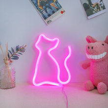 Fashion Colorful Rainbow Led Neon Sign Light Holiday Xmas Party Wedding Decorations Kids Room Night Lamp Home Wall Decor 11 Kind(China)