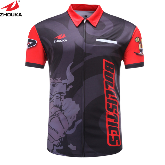 custom men 39 s shooting shirt with sublimation printing
