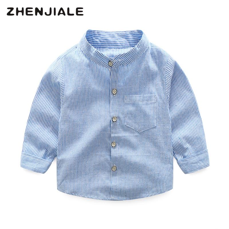 Modna odzież dziecięca wiosna bawełna bluzka koszula chłopięca - Ubrania dziecięce - Zdjęcie 1