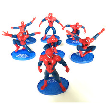 Children toys The Marvel Avengers Figure 7 types Amazing SpiderMan PVC doll super hero spider man action figures kids toys gifts