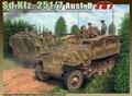 Dragão modelo 6223 1/35 escala escala de plástico com sd. Kfz.251 / 7 aust. Modelo de montagem de modelo de construção kit escala kits modelo de tanque